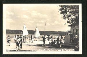 AK Unterschondorf, Sommerleben am Strandbad Forster