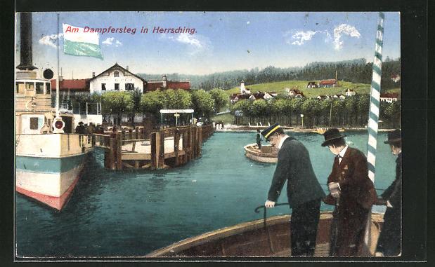 AK Herrsching, Partie am Dampfersteg 0