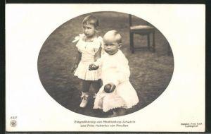 AK Erbgrossherzog von Mecklenburg-Schwerin und Prinz Hubertus von Preussen, Kinderbild