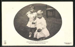 AK Erbgrossherzog von Mecklenburg-Schwerin ud Prinz Hubertus von Preussen, Kinderbild