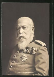 AK Bildnis Grossherzogs Friedrich von Baden in Uniform