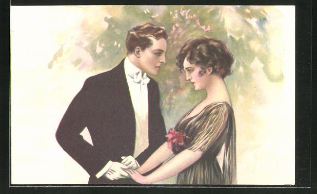 Künstler-AK Tito Corbella: verliebtes Paar