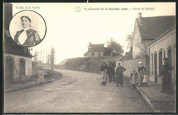 AK Circuit de la Sarthe 1906, Sortie de Berfay, Autorennen
