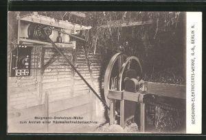 AK Berlin, Bergmann-Elektricitäts-Werke AG, Bergmann-Drehstrom-Motor zum Antrieb einer Häckselschneidemaschine