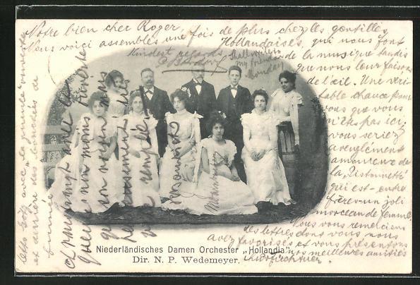 AK Niederländisches Damenorchester