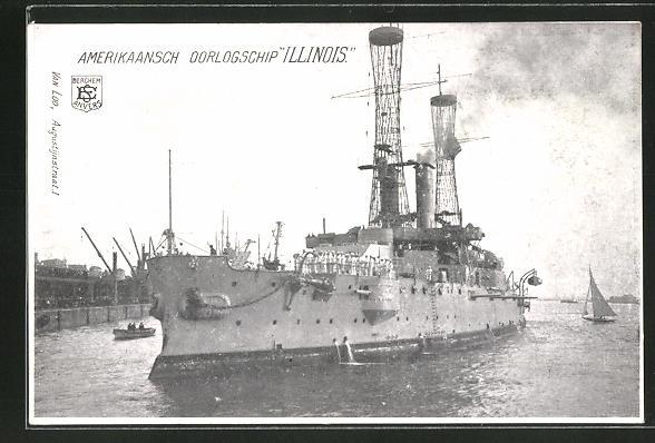 AK Amerikanisches Kriegsschiff