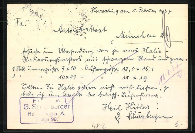 AK München, Anton Möst, Vertretung photographischer Firmen, Antwerpener Strasse 27 1