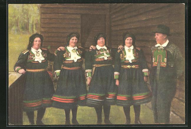 AK Setesdalrakter, norwegische Frauen in Tracht 0