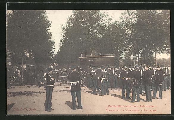 AK Vincennes, Garde Republicaine, Infanterie 0