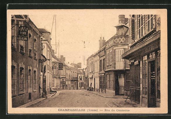 AK Champignelles, Rue du Commerce 0