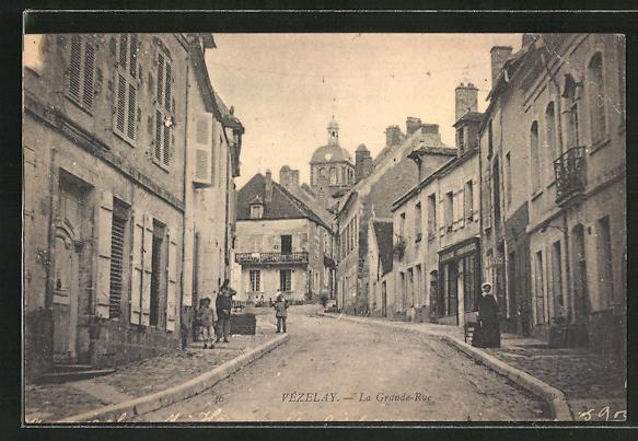 AK Vezelay, La Grande-Rue 0