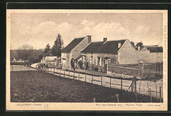 AK Villemer, Rue des Fosses sud, Maison Playe 0