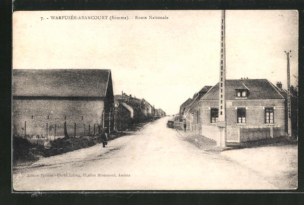 AK Warfusee-Abancourt, Route Nationale 0