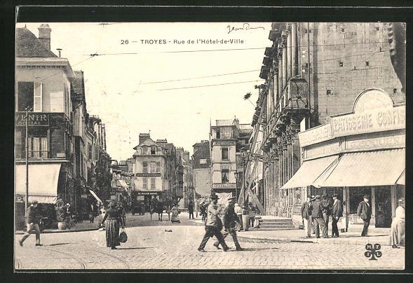 AK Troyes, Rue de l'Hotel-de-Ville 0