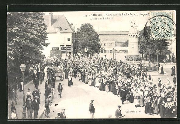 AK Troyes, Concours de Peche du 17 Juin 1906, Defile des Pecheurs 0