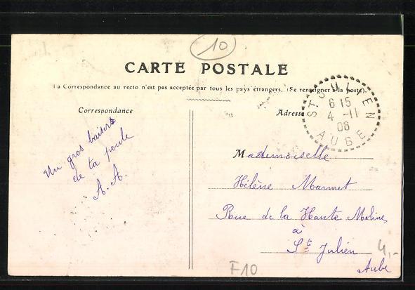 AK Troyes, Le Canal, Concours de Peche du 17 Juin 1906 1