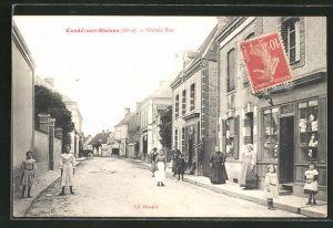 AK Conde-sur-Kuisne, Grande Rue