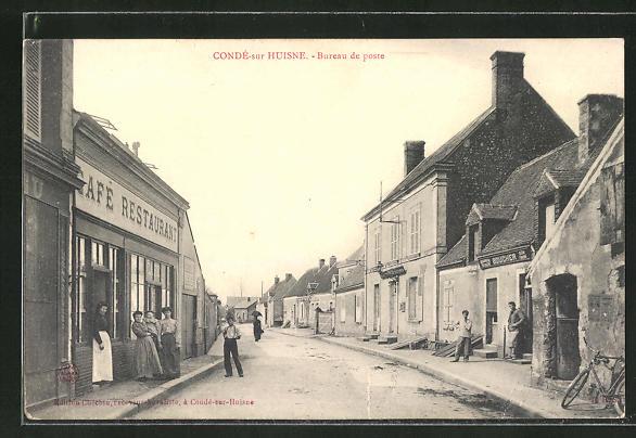 AK Conde-sur-Huisne, Bureau de poste 0
