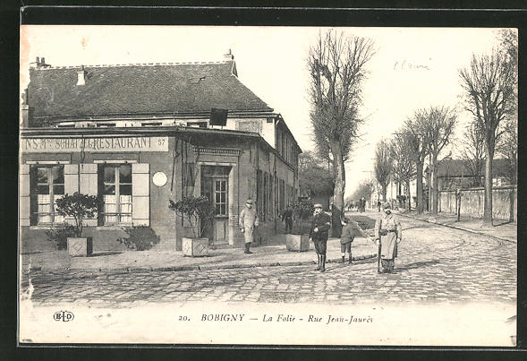 AK Bobigny, La Folie, Rue Jean-Jaures