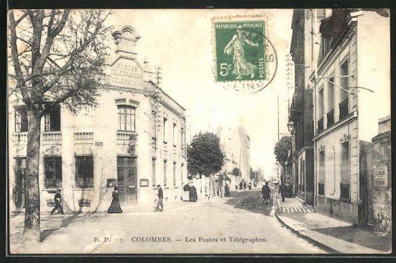 AK Colombes, Les Postes et Telegraphes 0