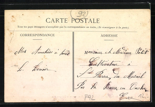 AK Colombes, Les Postes et Telegraphes 1