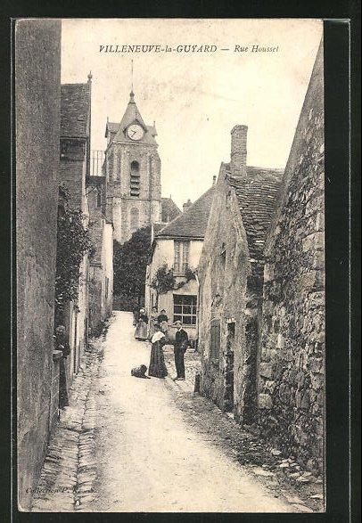 AK Villeneuve-la-Guyard, Rue Housset, Kirche, Eglise 0