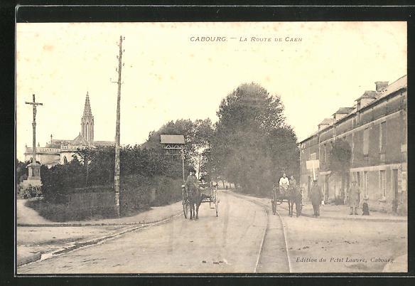 AK Cabourg, La Route de Caen 0