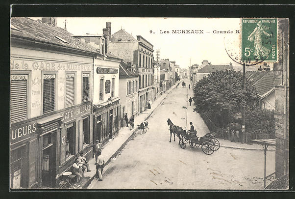AK Les Mureaux, Grande Rue 0