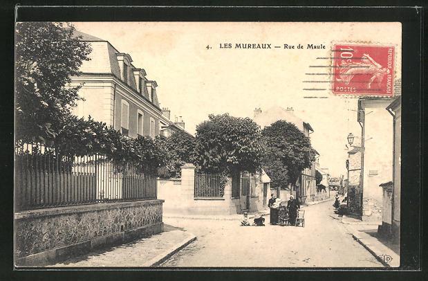 AK Les Mureaux, Rue de Maule 0