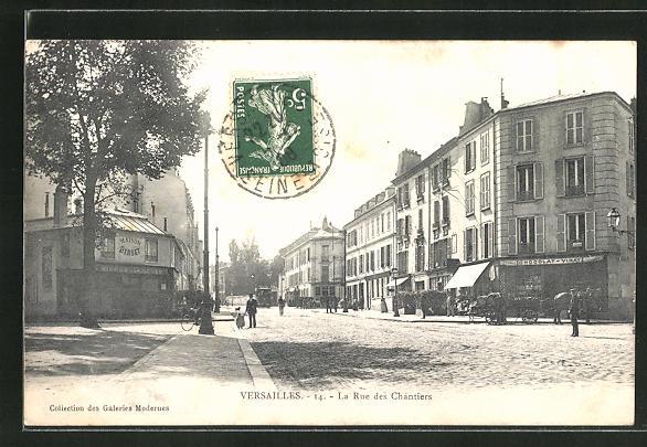 AK Versailles, La Rue des Chantiers 0