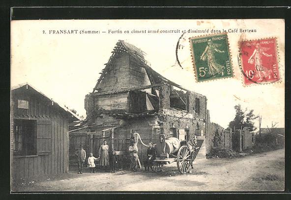 AK Fransart, Fortin en ciment armé construit et dissimulé dans le Café Berteau 0