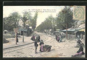 AK Les Lilas, Rue Noisy le Sec, Prise de la Porte de Menilmontant