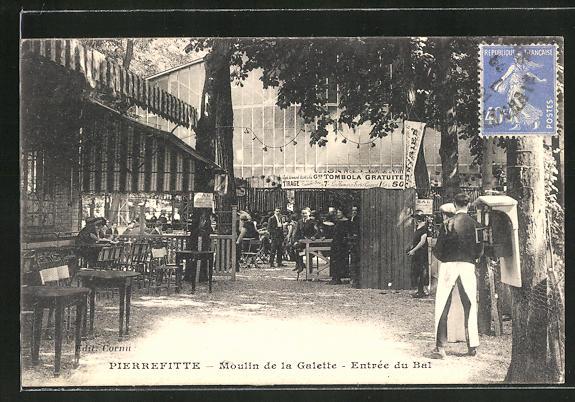 AK Pierrefitte, Moulin de la Galette, Entrée du Bal 0