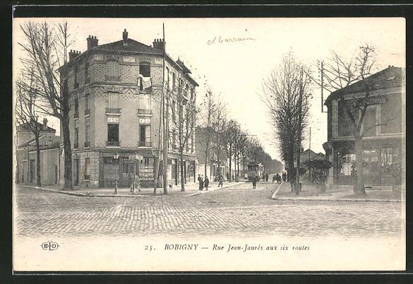 AK Bobigny, Rue Jean-Jaurés aux six routes 0