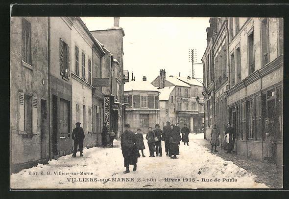 AK Villiers-sur-Marne, Rue de Paris 0