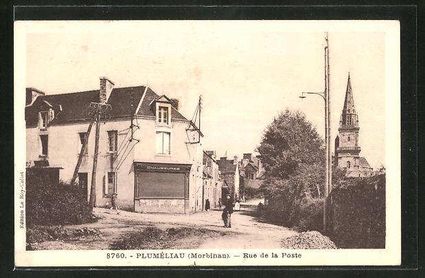 AK Plumeliau, Rue de la Poste 0
