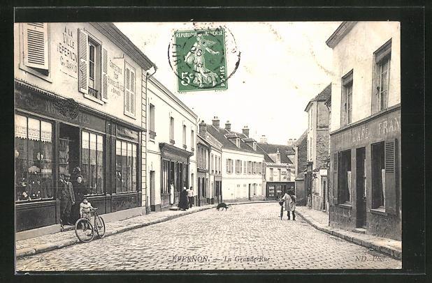 AK Epernon, La Grande Rue 0