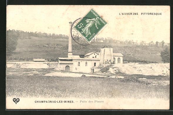 AK Champagnac-les-Mines, Puits des Planes 0
