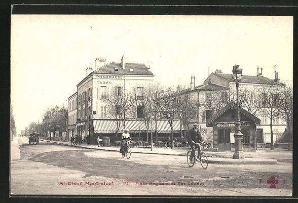 AK St-Cloud-Montretout, Place Magenta et Rue Gounod 0