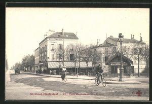 AK St-Cloud-Montretout, Place Magenta et Rue Gounod
