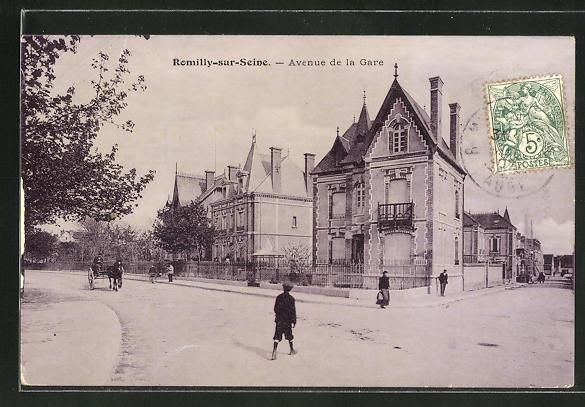 AK Romilly-sur-Seine, Avenue de la Gare