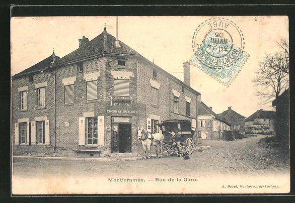 AK Montieramey, Rue de la Gare 0