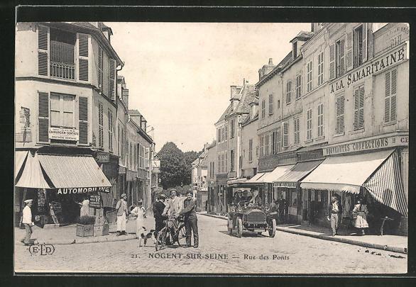 AK Nogent-sur-Seine, Rue des Ponts