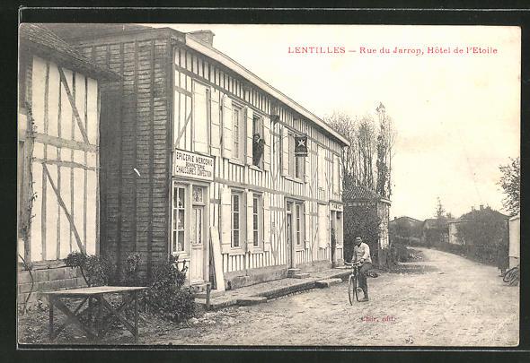 AK Lentilles, Rue du Jarron, Hotel de l'Etoile 0