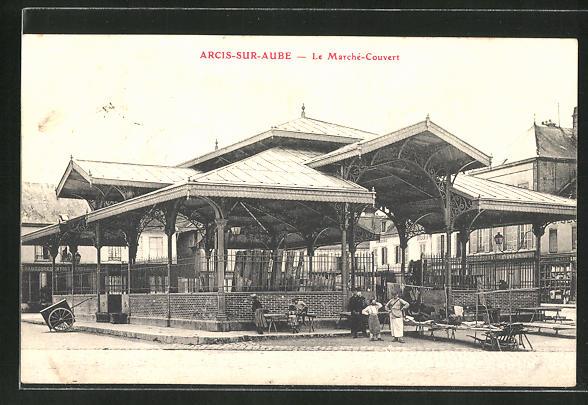 AK Arcis-sur-Aube, Le Marché-Couvert