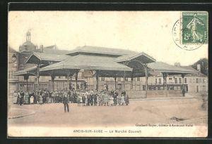 AK Arcis-sur-Aube, Le Marché Couvert