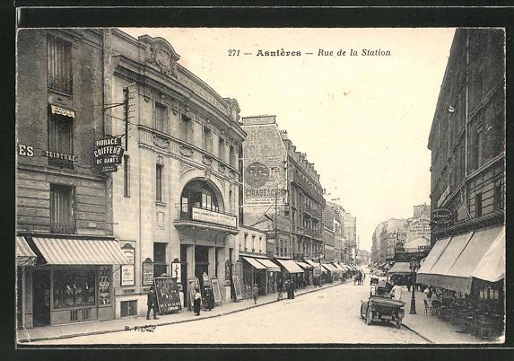 AK Asniéres, Rue de la Station 0