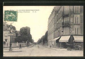 AK St-Cloud-Montretout, La Rue Pasteur