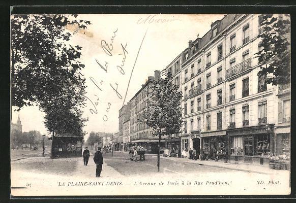 AK Plaine-Saint-Denis, L'Avenue de Paris á la Rue Prud'hon