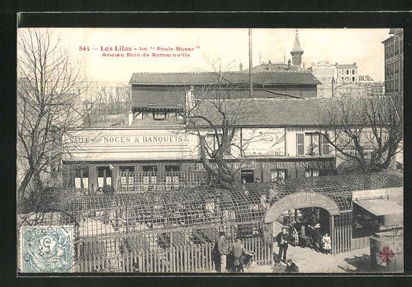 AK Les Lilas, La Poule Russe, Aneien Bois de Romainville 0